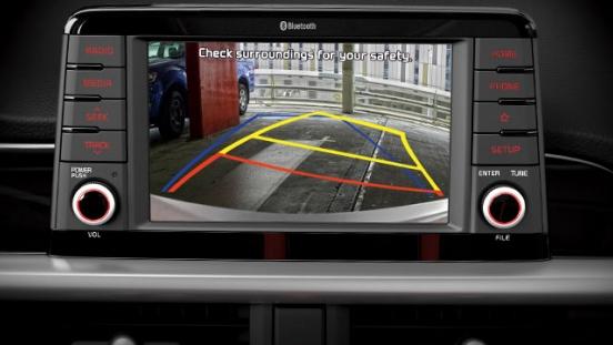 2019 Kia Picano interior reverse camera