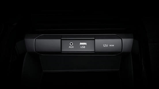 2019 Kia Rio Interior UBS and AUX connection points