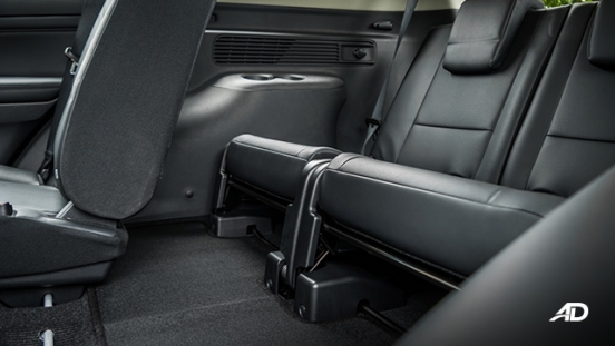 2020 montero sport interior third row