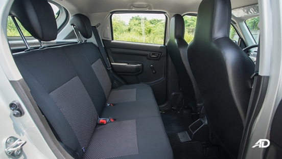 2020 Suzuki S-Presso Philippines rear passenger space