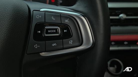2021 Chery Tiggo 7 Pro interior steering wheel mounted controls Philippines