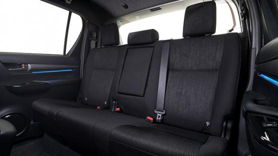 2021 Toyota Hilux interior rear seats Philippines