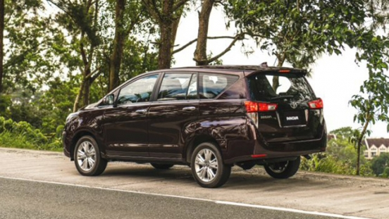 2021 Toyota Innova exterior quarter rear Philippines