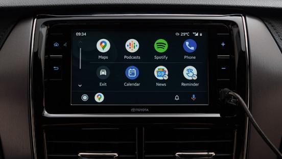 2021 Toyota Yaris Philippines 6.75-inch infotainment screen Android Auto, Apple CarPlay