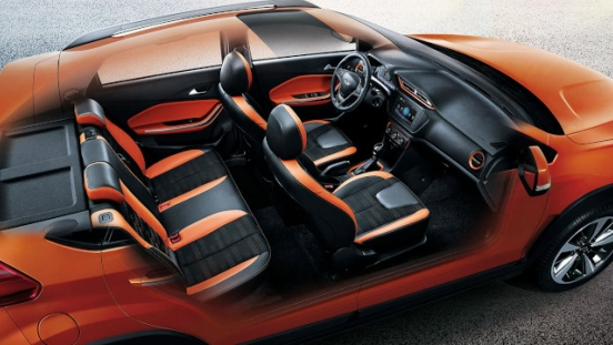 Chery Tiggo 2 Interior Cutaway Orange and Black interior Philippines