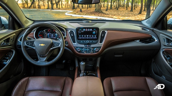 chevrolet malibu review road test dashboard interior philippines