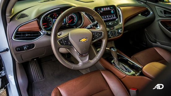 chevrolet malibu review road test front cabin interior