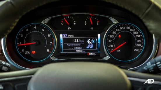 chevrolet malibu review road test instrument cluster interior philippines