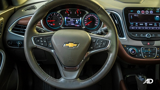chevrolet malibu review road test steering wheel interior