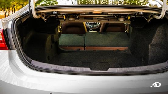 chevrolet malibu review road test trunk cargo interior
