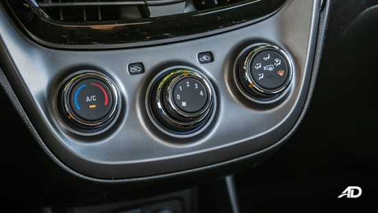 chevrolet spark road test interior climate control