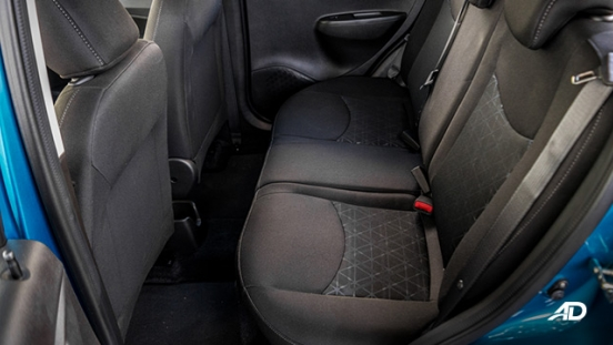 chevrolet spark road test interior rear cabin