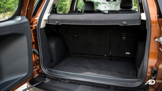 ford ecosport ecoboost road test interior trunk