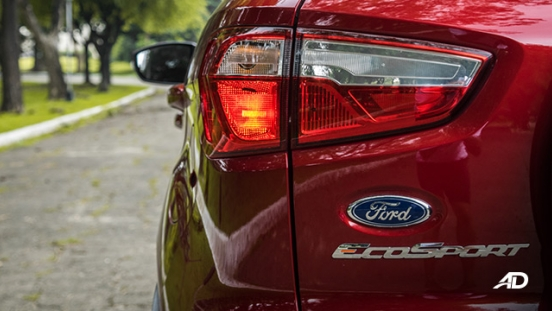 ford ecosport trend road test exterior taillight philippines