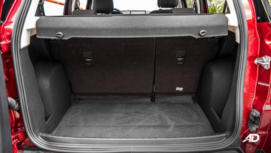 ford ecosport trend road test interior trunk