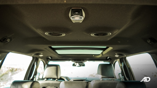 ford everest review road test aircon vents roof interior