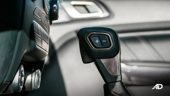 ford everest review road test gear shifter interior philippines