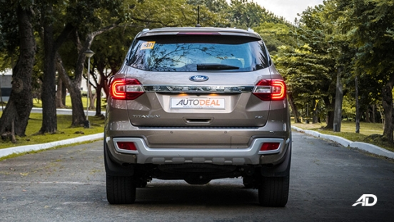 ford everest review road test rear exterior philippines