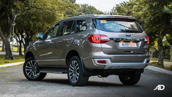 ford everest review road test rear quarter exterior philippines