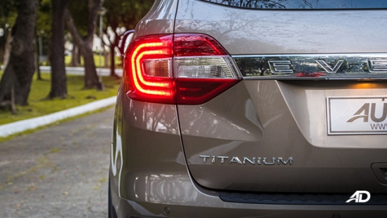 ford everest review road test taillights exterior