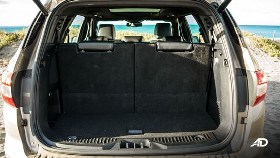 ford everest review road test trunk space inteior