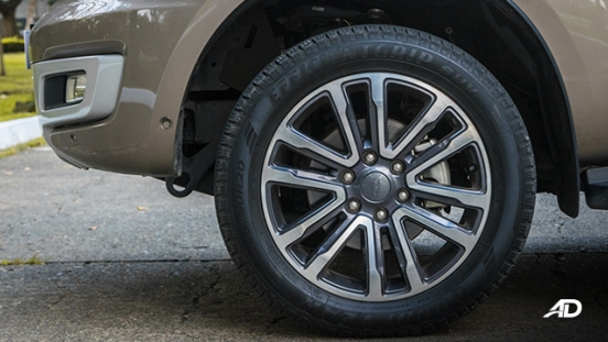 ford everest review road test wheels exterior