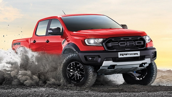 Ford Ranger Raptor exterior press photo red