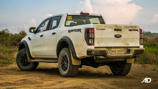 ford ranger raptor exterior road test rear philippines