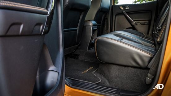 ford ranger road test interior rear cabin