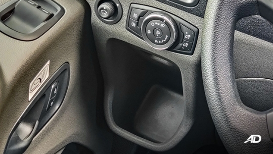 ford transit review road test cupholder interior