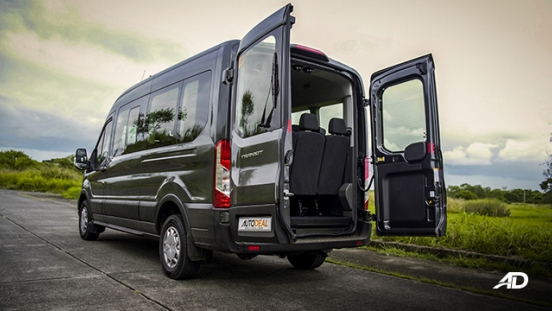 ford transit review road test rear doors open exterior