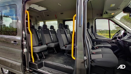 ford transit review road test side interior seats shot philippines