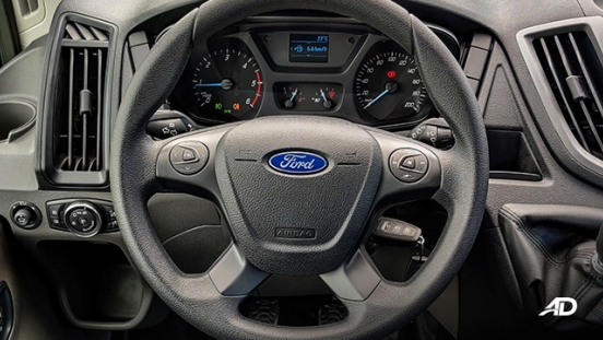 ford transit review road test steering wheel interior