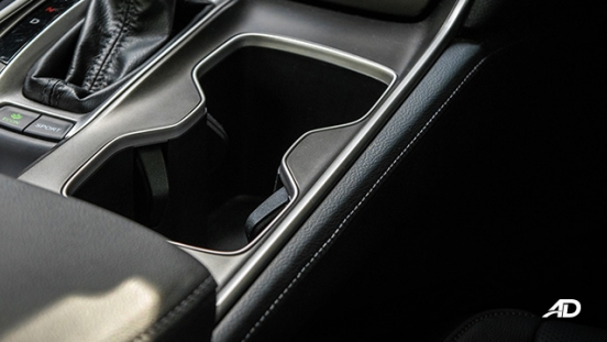 honda accord review road test cupholder interior