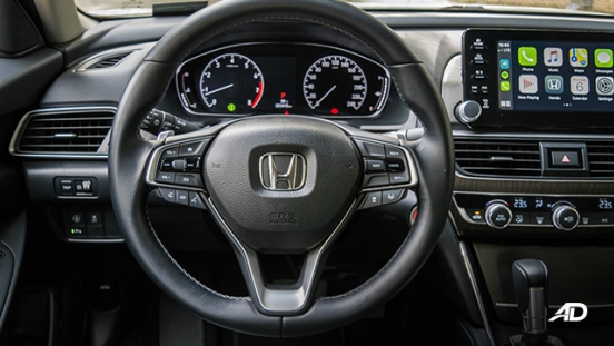 honda accord review road test steering wheel interior