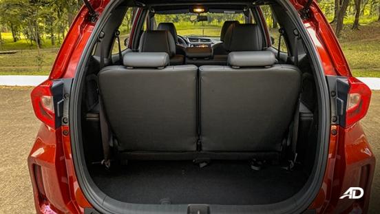honda br-v road test review cargo trunk interior