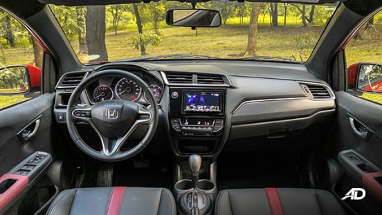 honda br-v road test review dashboard interior philippines