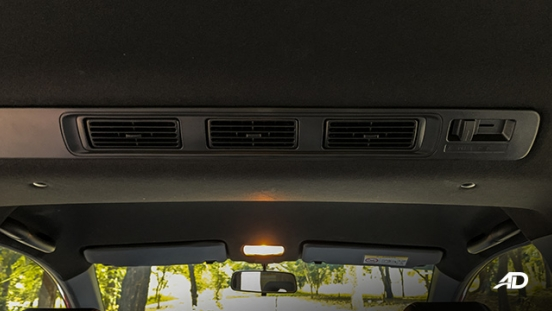 honda br-v road test review rear air-con interior