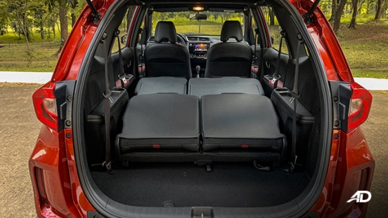 honda br-v road test review seats folded cargo trunk