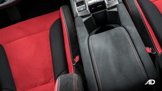 honda civic type r review road test center console interior