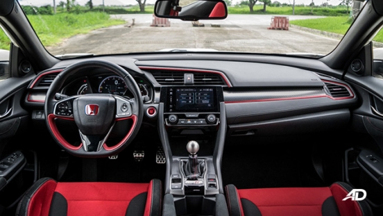 honda civic type r review road test dashboard interior philippines