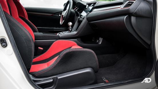 honda civic type r review road test front cabin interior philippines