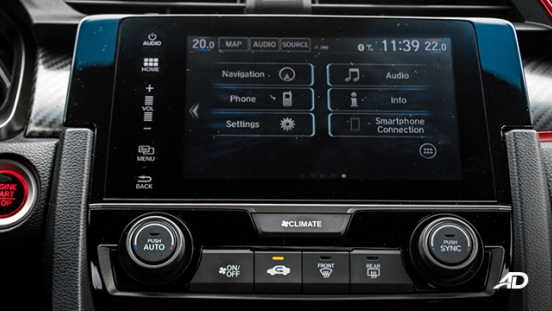 honda civic type r review road test infotainment system interior