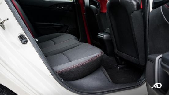 honda civic type r review road test rear cabin interior philippines