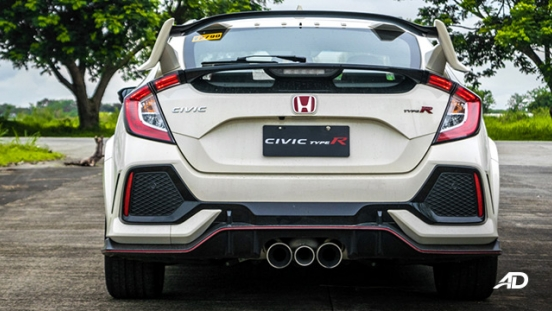 honda civic type r review road test rear exterior philippines