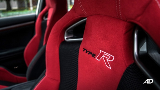 honda civic type r review road test seats interior
