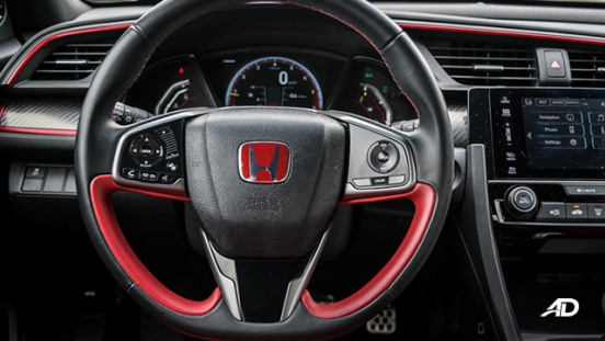 honda civic type r review road test steering wheels interior philippines