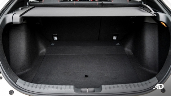 honda civic type r review road test trunk cargo interior