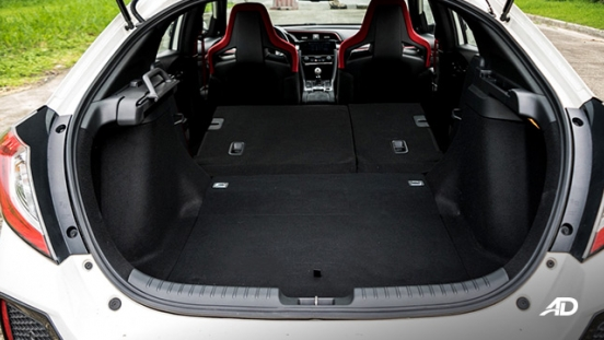 honda civic type r review road test trunk cargo interior folded philippines