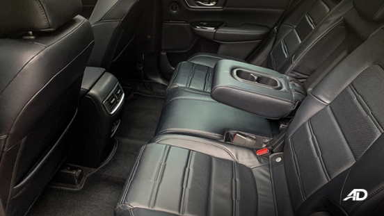 honda cr-v review road test rear cabin interior
